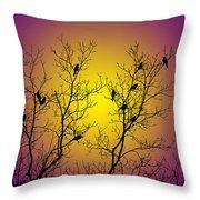 Silhouette Birds Throw Pillow