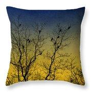 Silhouette Birds Sequel Throw Pillow