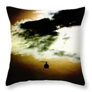 Silhouette Cloud Throw Pillow