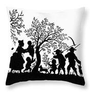 Silhouette Family Life Throw Pillow