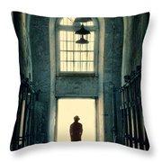 Silhouette In Doorway Throw Pillow