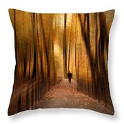 Silhouette In Solitude Throw Pillow