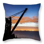 Silhouette Of Davit Throw Pillow