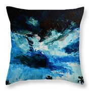 Silhouette Of Nature II Throw Pillow