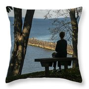 Silhouette On The Hill Throw Pillow