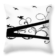 Silhouette Scissors Throw Pillow