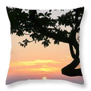 Silhouette Sunrise Throw Pillow