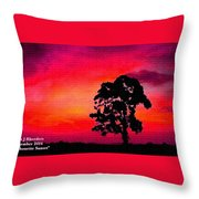 Silhouette Sunset H A Throw Pillow