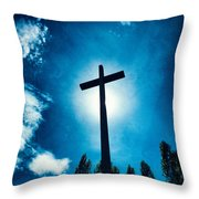 Silhouetted Cross Throw Pillow