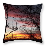 Silhouetted Throw Pillow