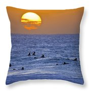 Silhouettes And Gold Throw Pillow