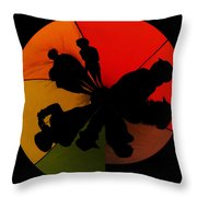 Silhouettes Around The Balloon Throw Pillow