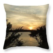 Silhouettes Of Sunset Throw Pillow