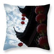 Silhouettes Of Zen Throw Pillow