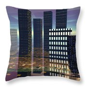 Silicon City Throw Pillow