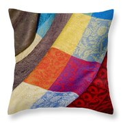Silk And Wool Throw Pillow