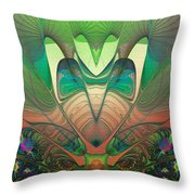 Silk Fan - Abstract  Throw Pillow