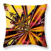 Silk Flower Throw Pillow