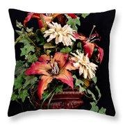 Silk Flowers Throw Pillow by Jeff Burton