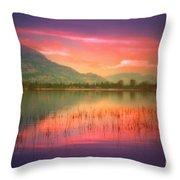 Silky Skies Throw Pillow