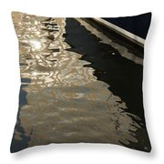 Silky Swirls And Zigzags - A Waterfront Abstract Throw Pillow