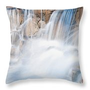 Silky Waterfall Splash Throw Pillow