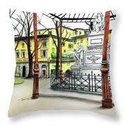 Silla Hotel Piazza Demidoff Florence Throw Pillow
