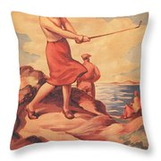 Silloth On The Solway, Advertisement Throw Pillow