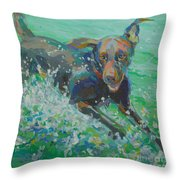 Silly Goose Throw Pillow by Kimberly Santini