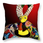 Silly Snake Throw Pillow