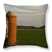 Silo Old Brick 3 Throw Pillow