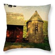 Silo Red Barn Throw Pillow