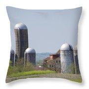 Silos - Norristown Farm Park Throw Pillow by Bill Cannon