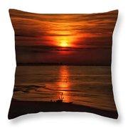 Silouhette In Sunset  Throw Pillow