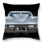 Silver '63 Throw Pillow