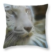 Silver-7958-fractal Throw Pillow
