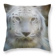 Silver-7963-fractal Throw Pillow
