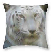 Silver-7988-fractal Throw Pillow