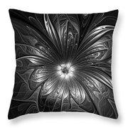 Silver Throw Pillow