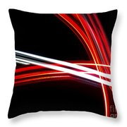 Silver And Red Throw Pillow