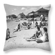 Silver Beach On Cape Cod Throw Pillow