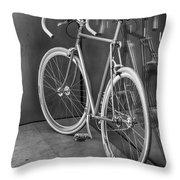 Silver Bike Bw Throw Pillow