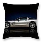 Silver C5 Throw Pillow