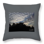 Silver Clouds Throw Pillow