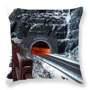 Silver Creek Tunnel Throw Pillow