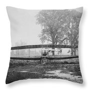 Silver Dart - Aeroplane At Hammondsport 1908 Throw Pillow