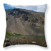 Silver Dollar Lake Colorado Throw Pillow