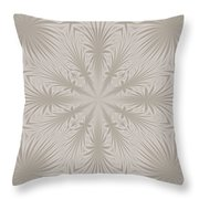 Silver Drapery Throw Pillow