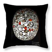 Silver Egg Throw Pillow by Eleni Mac Synodinos
