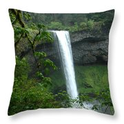 Silver Falls 1 In Oregon Throw Pillow